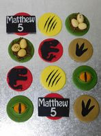 12 Jurassic Park Theme Birthday Party Cupcake Toppers